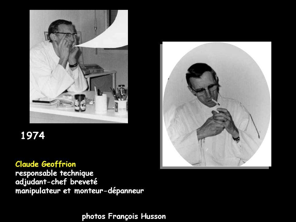1974 Claude Geoffrion responsable technique adjudant-chef breveté