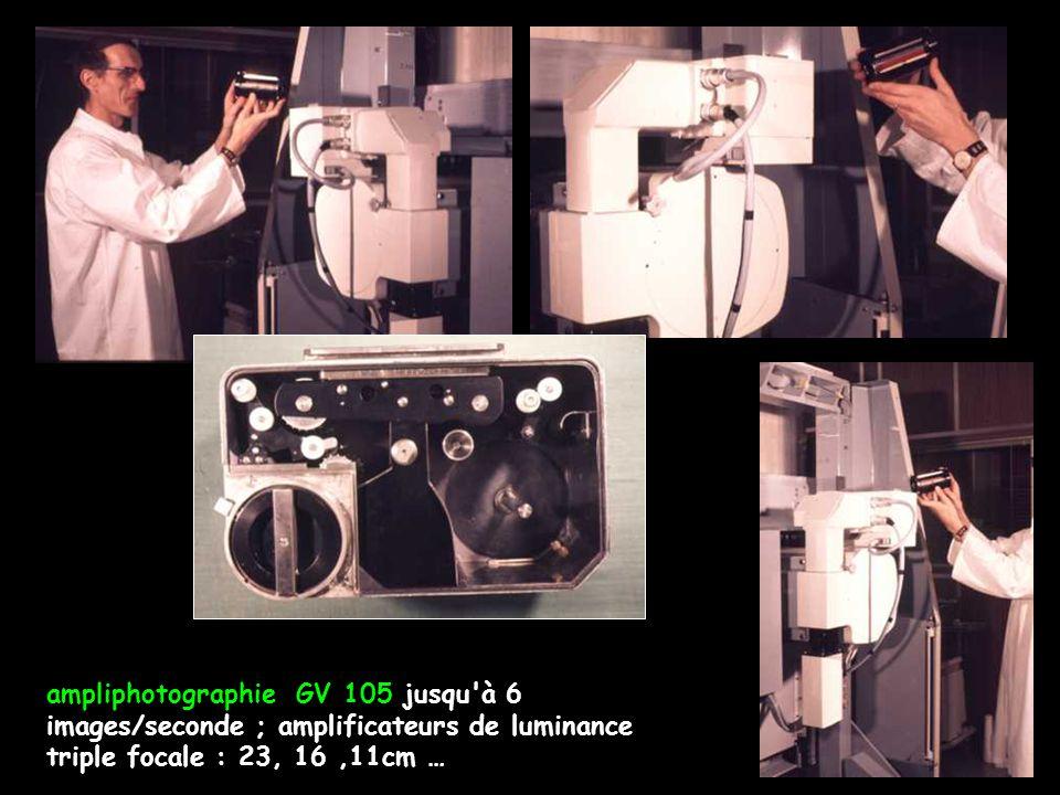 ampliphotographie GV 105 jusqu à 6 images/seconde ; amplificateurs de luminance triple focale : 23, 16 ,11cm …