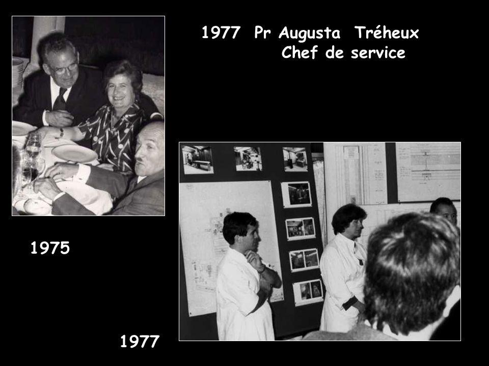 Pr Augusta Tréheux Chef de service 1975 1977