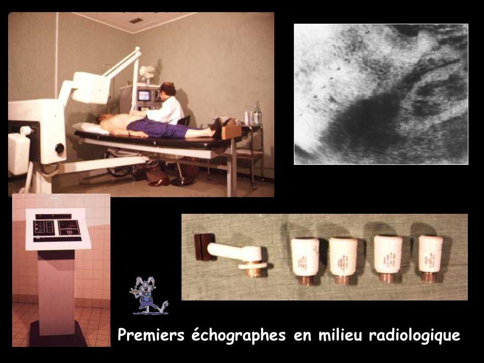 Premiers échographes en milieu radiologique
