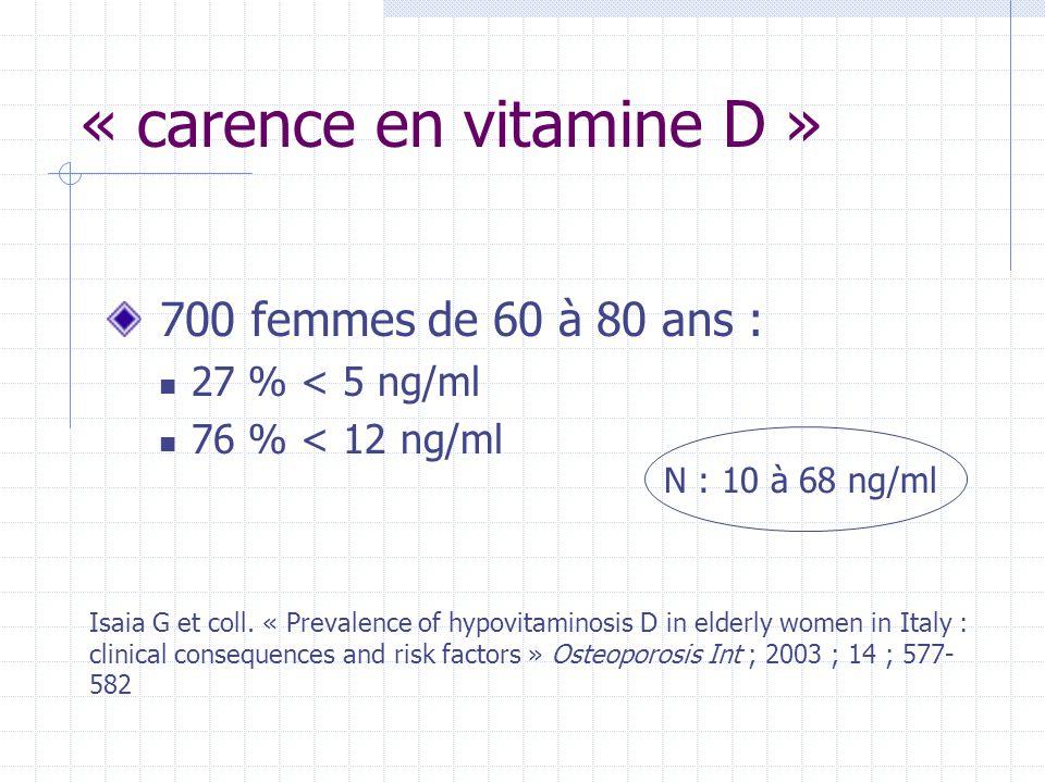 « carence en vitamine D »