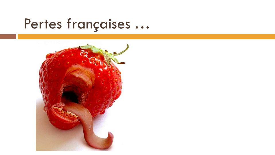 Pertes françaises … QO(p) = 8*(2,87) – 8