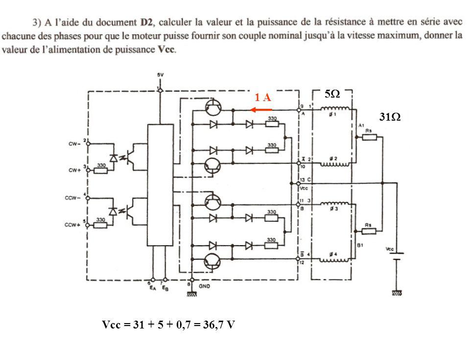 5W 1 A 31W Vcc = 31 + 5 + 0,7 = 36,7 V