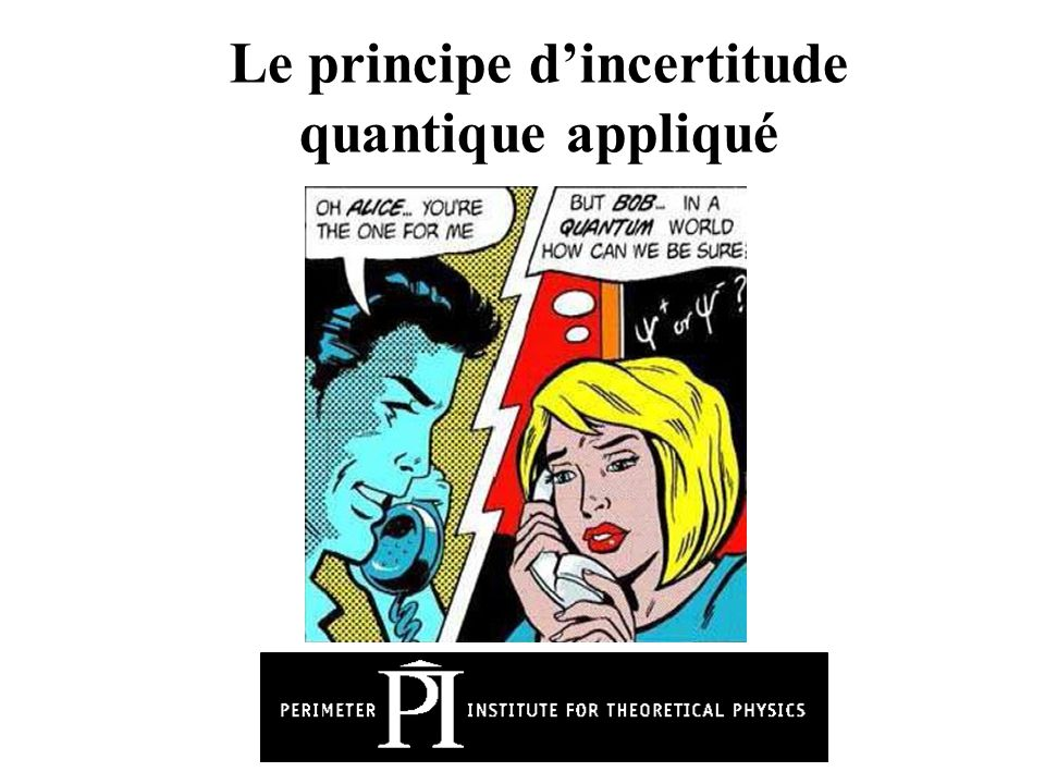 Le principe d'incertitude quantique appliqué