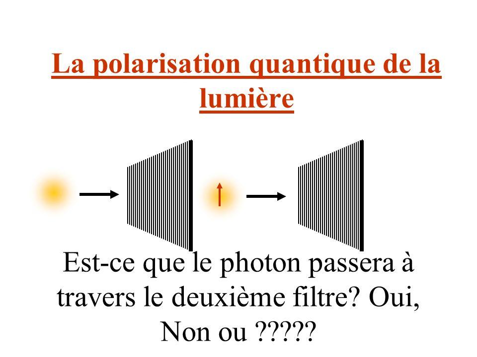 La polarisation quantique de la lumière