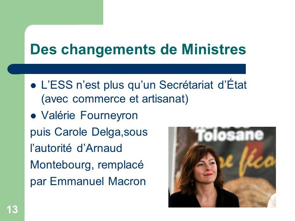 Des changements de Ministres