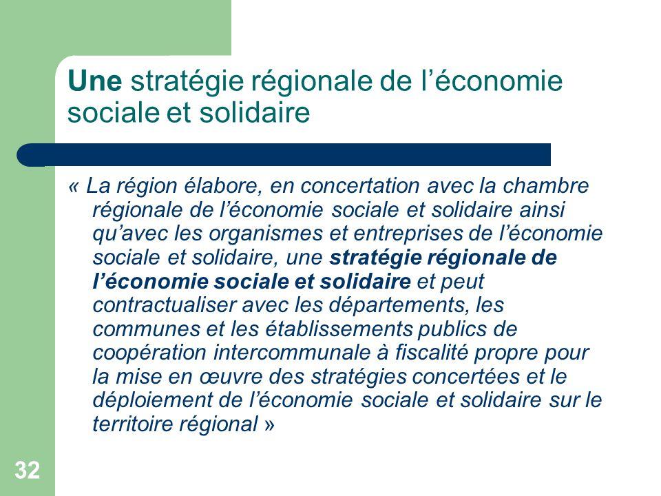 Une stratégie régionale de l'économie sociale et solidaire