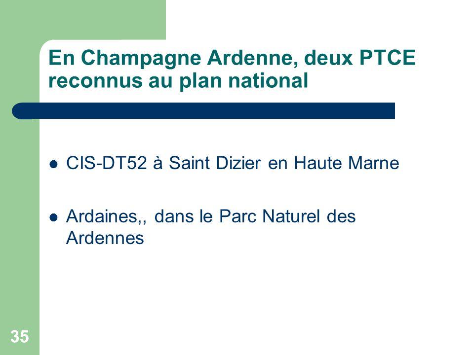 En Champagne Ardenne, deux PTCE reconnus au plan national
