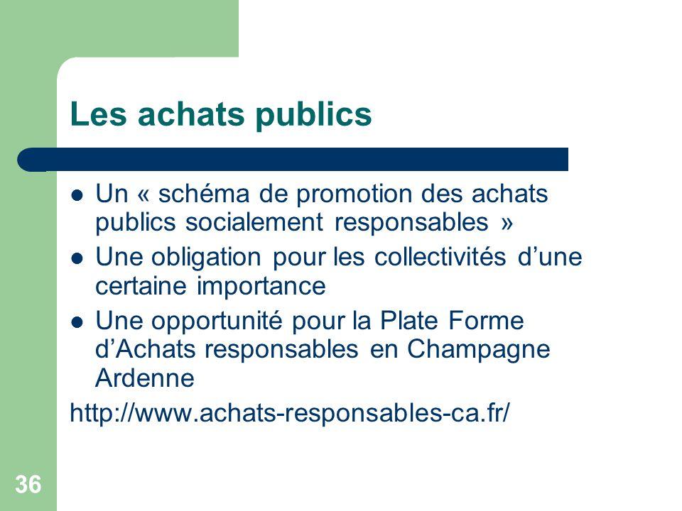 Les achats publics Un « schéma de promotion des achats publics socialement responsables »