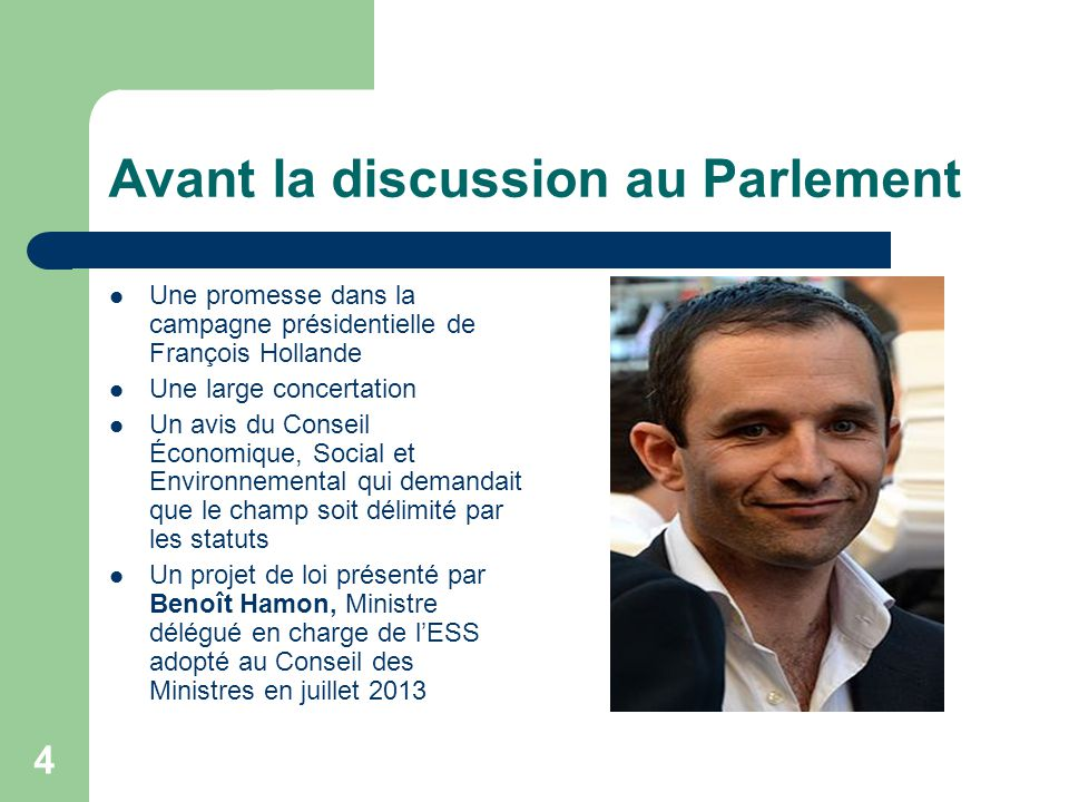 Avant la discussion au Parlement