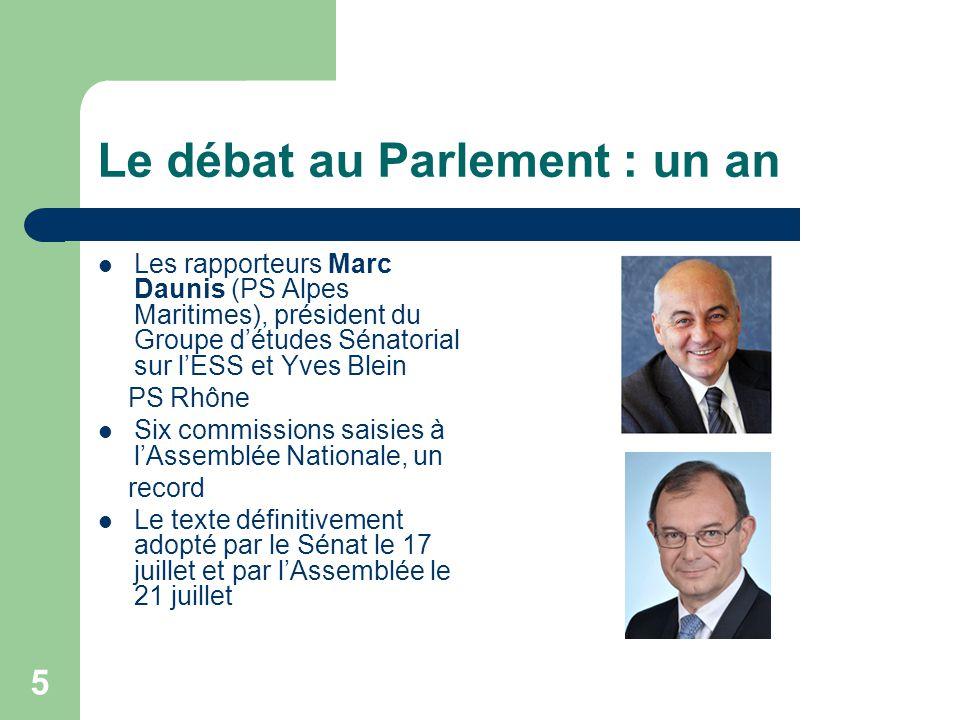 Le débat au Parlement : un an