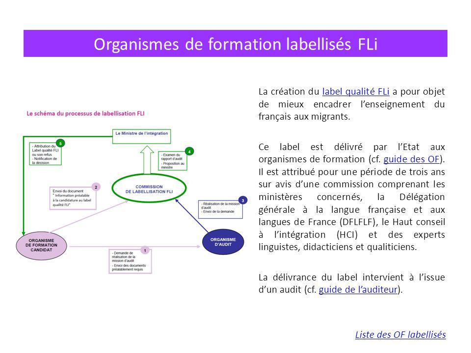 Organismes de formation labellisés FLi