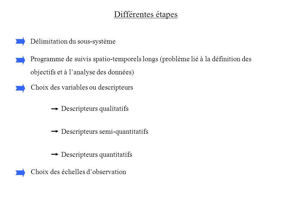 Différentes étapes Délimitation du sous-système