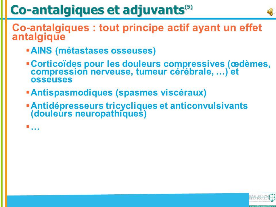 Co-antalgiques et adjuvants(5)