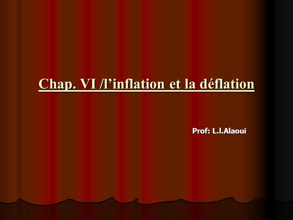 Chap. VI /l'inflation et la déflation