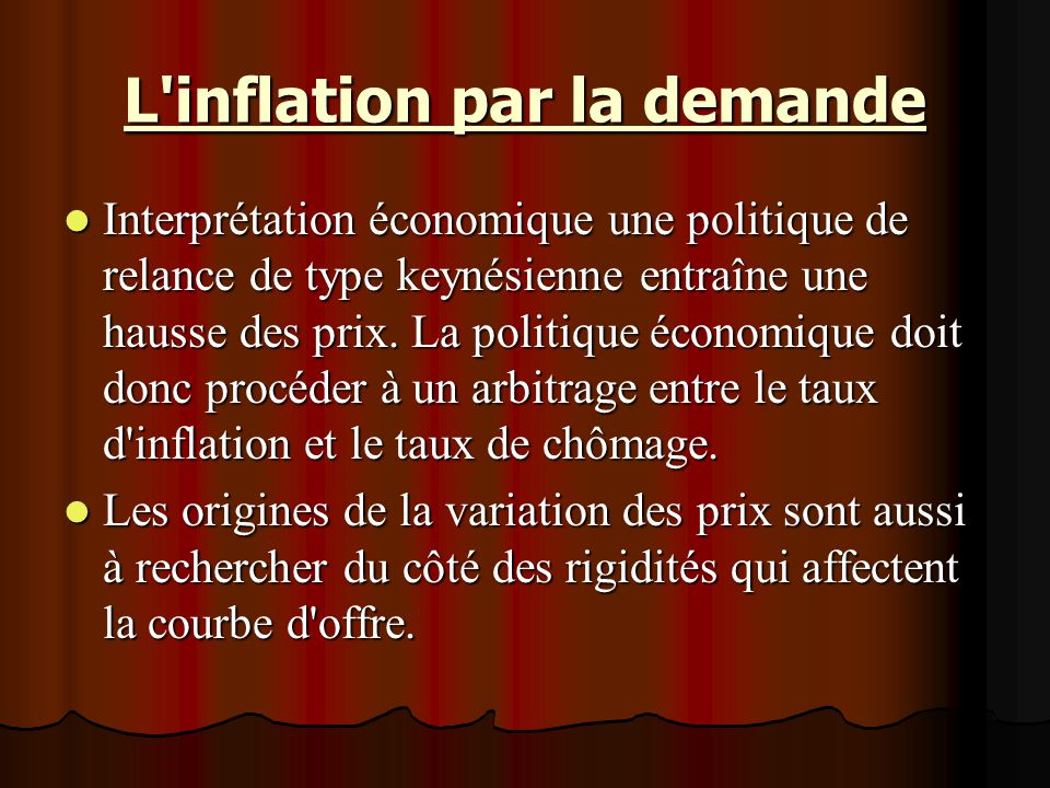 L inflation par la demande