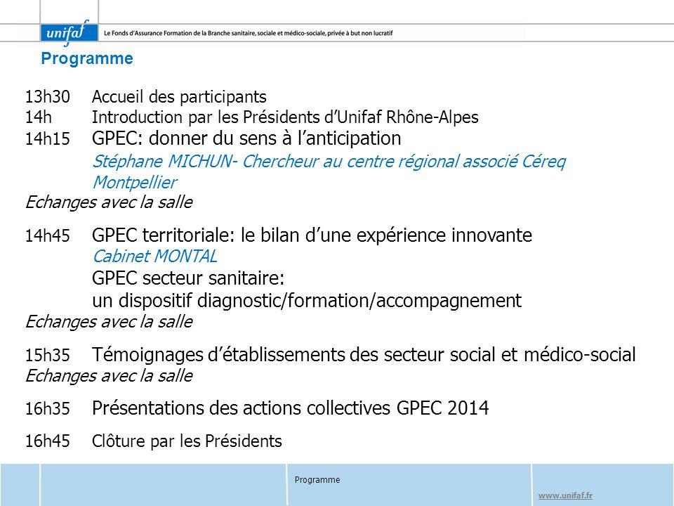 GPEC secteur sanitaire: