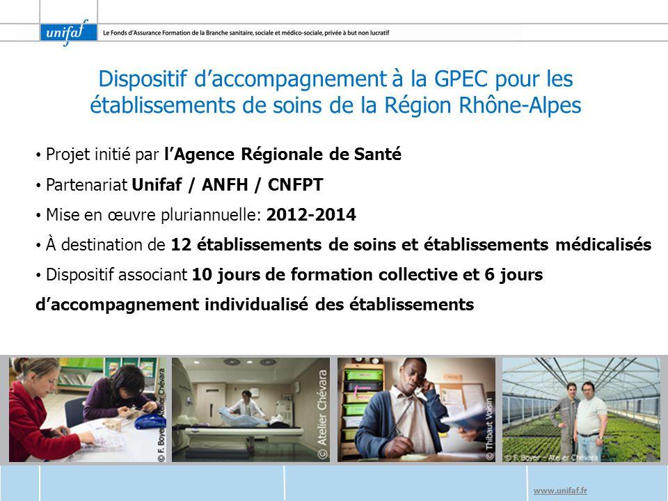 Dispositif d'accompagnement à la GPEC pour les établissements de soins de la Région Rhône-Alpes