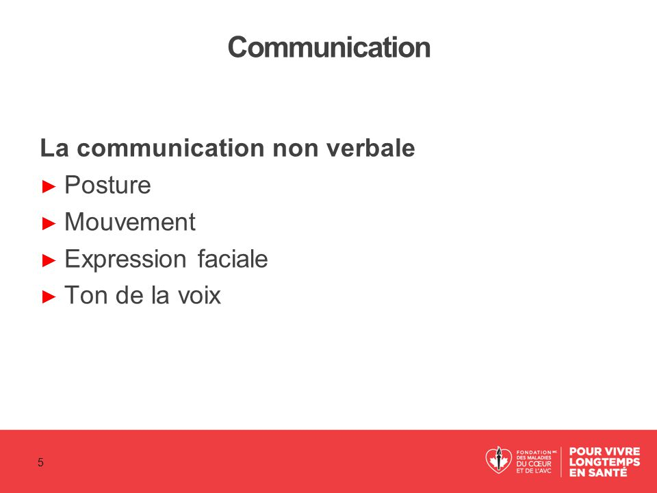 Communication La communication non verbale Posture Mouvement