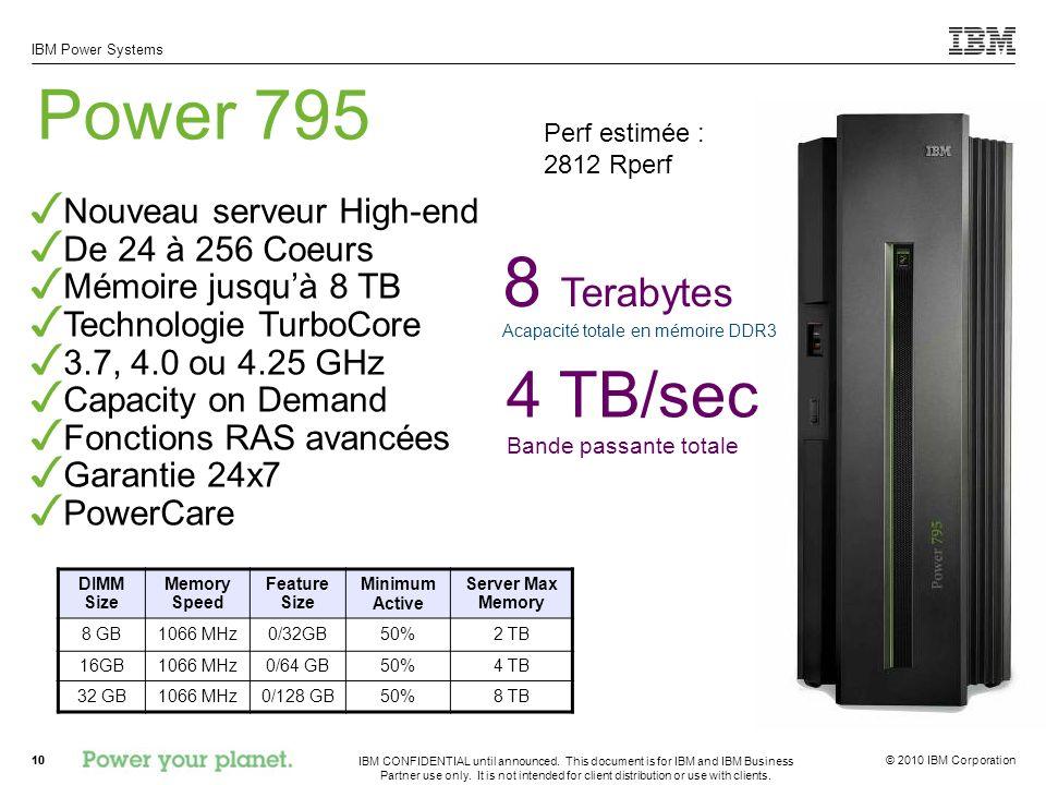 8 Terabytes Acapacité totale en mémoire DDR3