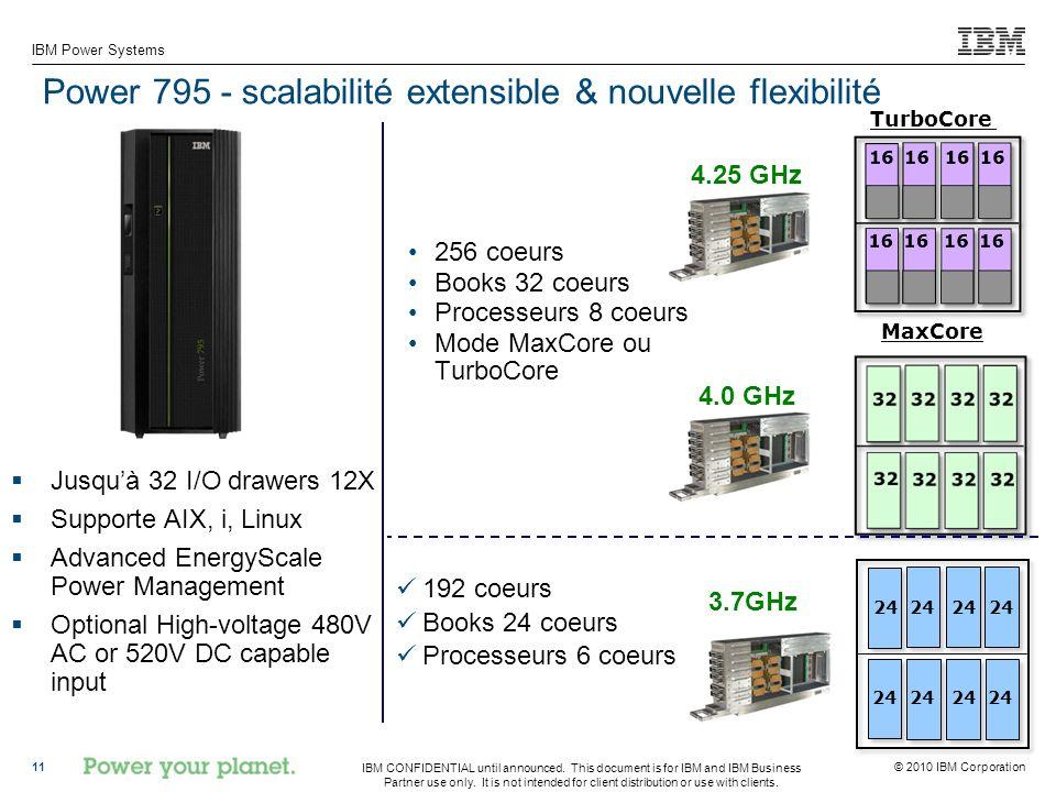 Power 795 - scalabilité extensible & nouvelle flexibilité