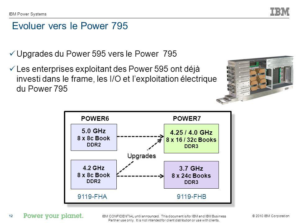 Evoluer vers le Power 795 Upgrades du Power 595 vers le Power 795