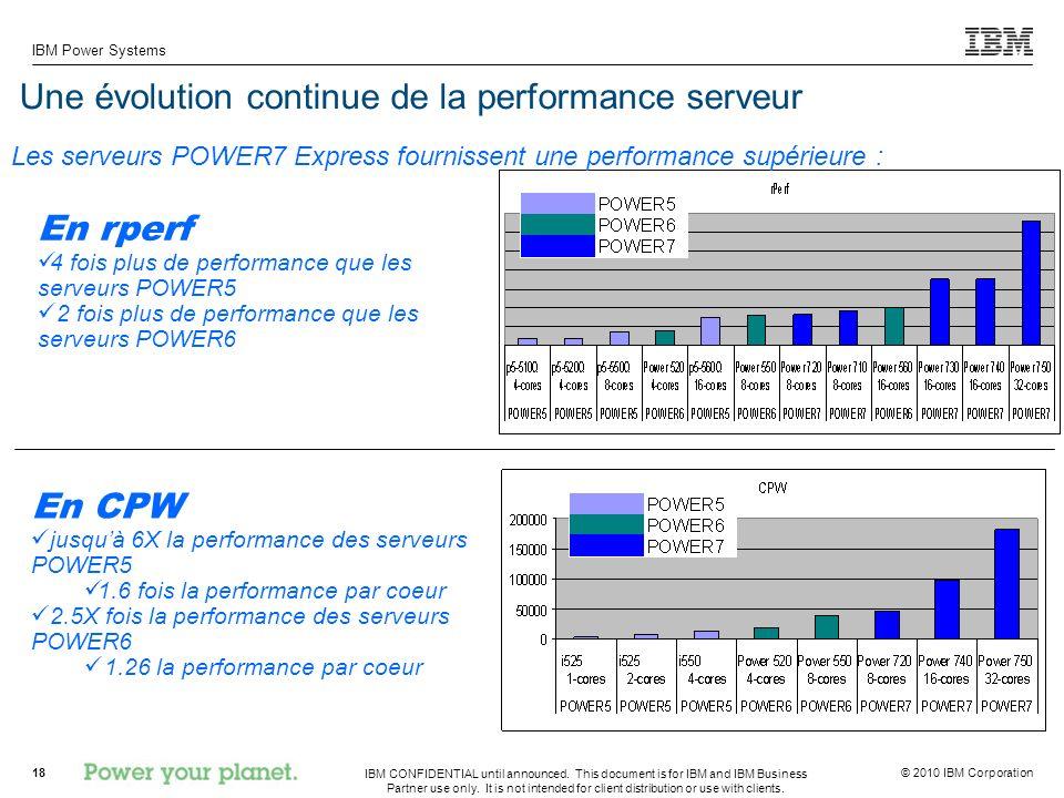 Une évolution continue de la performance serveur