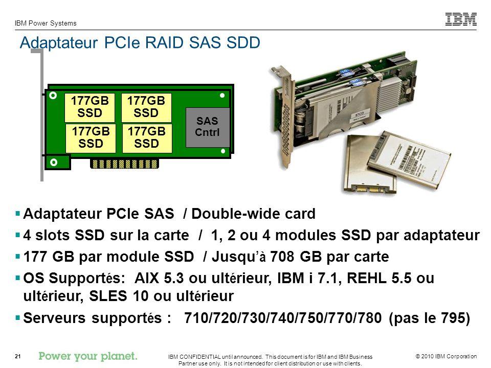 Adaptateur PCIe RAID SAS SDD