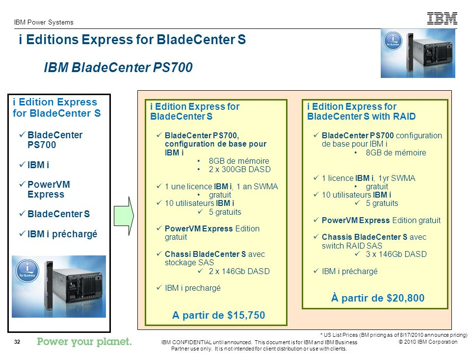i Editions Express for BladeCenter S IBM BladeCenter PS700