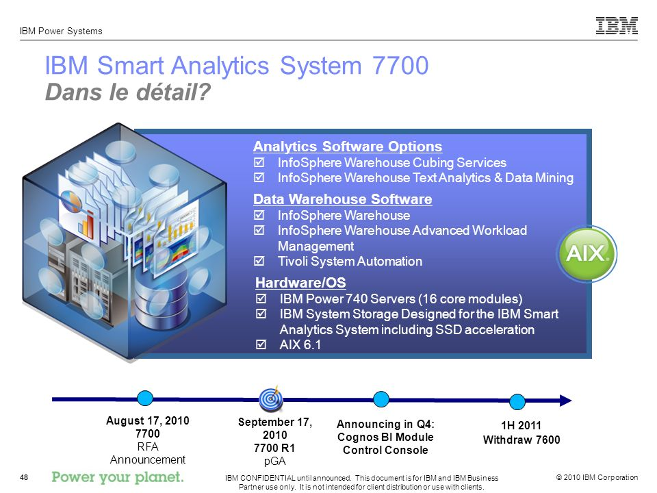 IBM Smart Analytics System 7700 Dans le détail