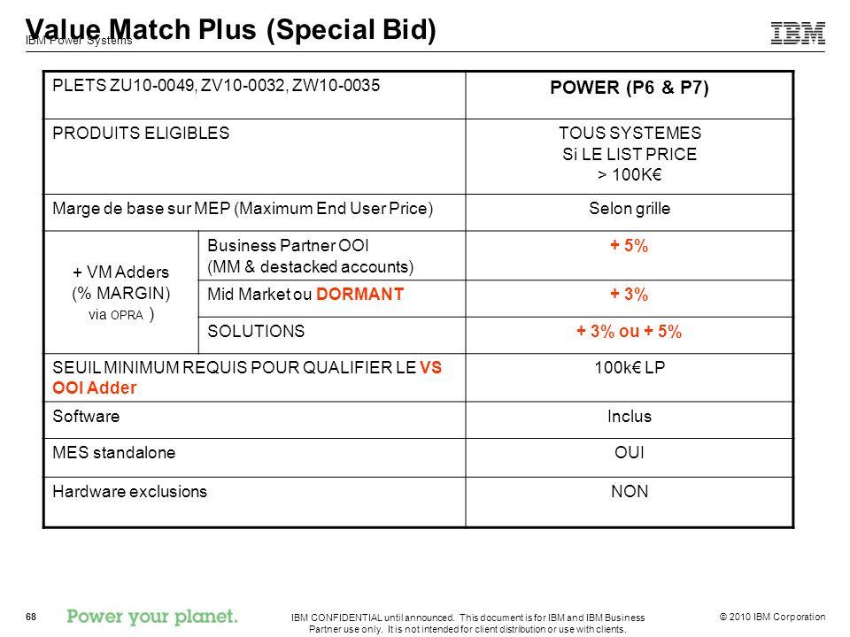 Value Match Plus (Special Bid)