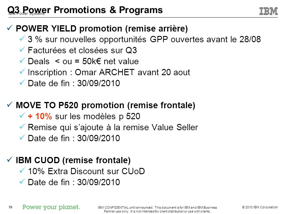 Q3 Power Promotions & Programs