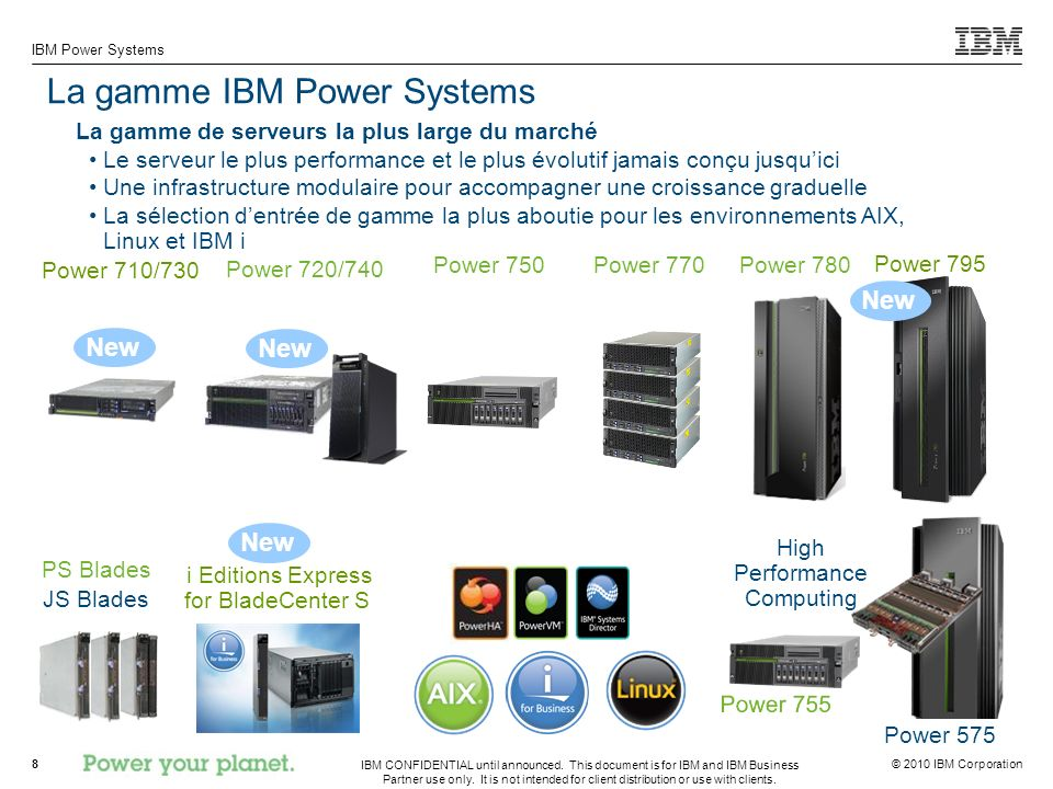 La gamme IBM Power Systems