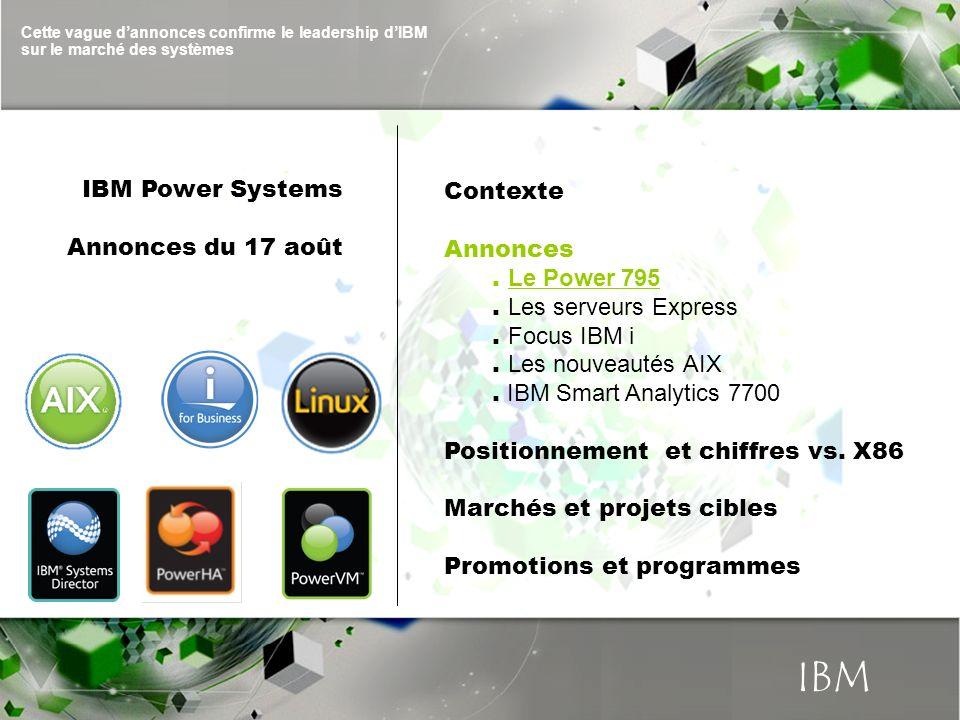 IBM IBM Power Systems Contexte Annonces du 17 août Annonces