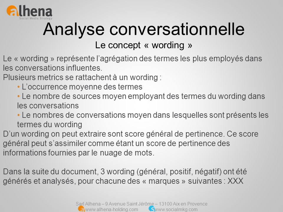 Analyse conversationnelle Le concept « wording »
