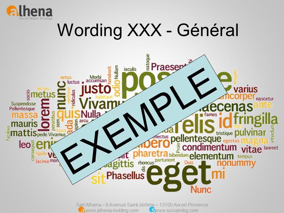 Wording XXX - Général EXEMPLE