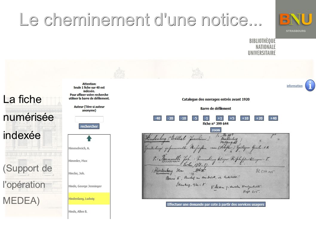 Le cheminement d une notice...