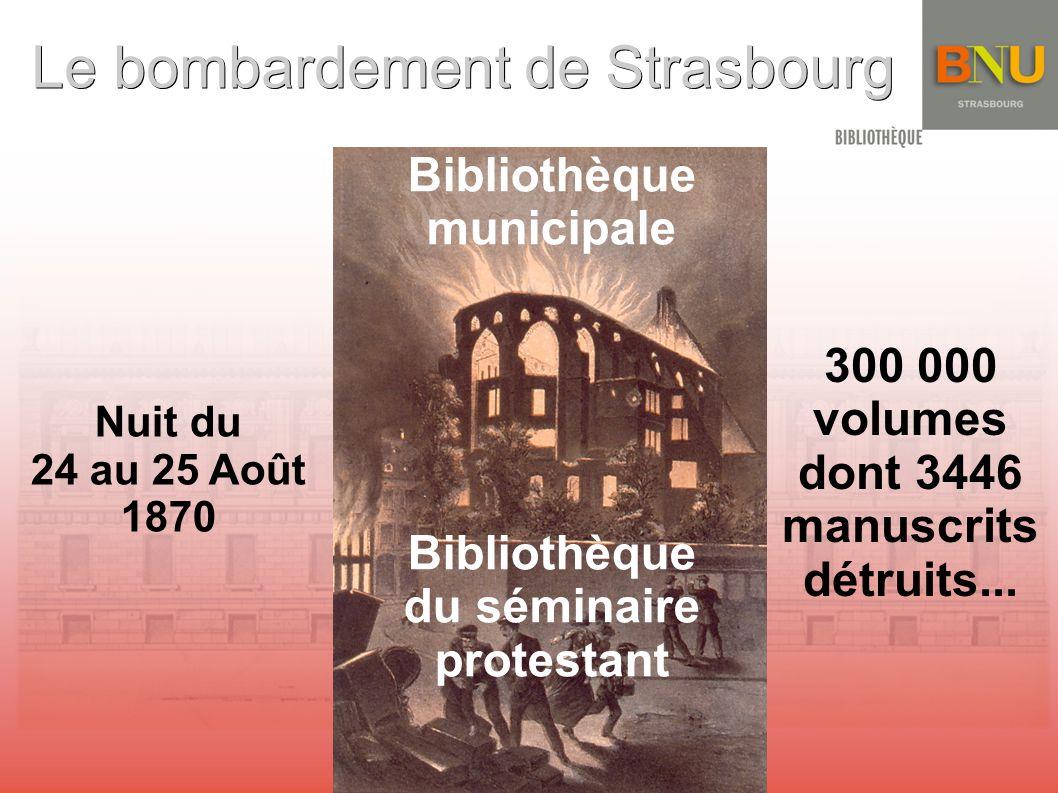 Le bombardement de Strasbourg