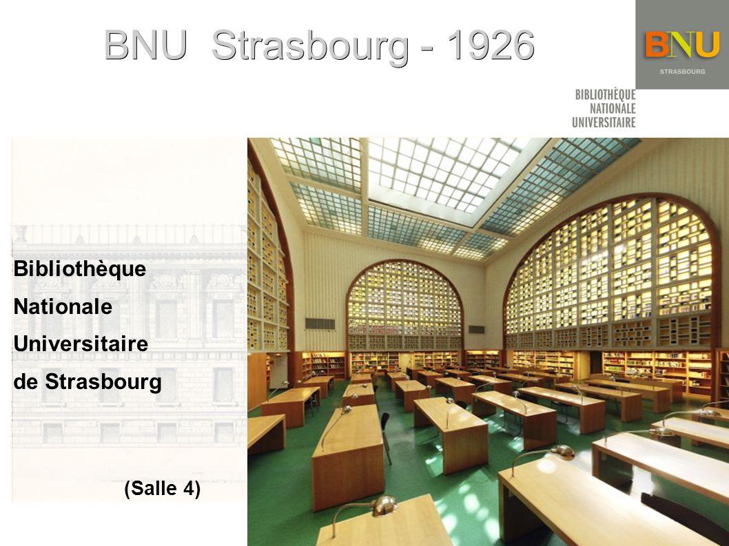 BNU Strasbourg - 1926 Bibliothèque Nationale Universitaire