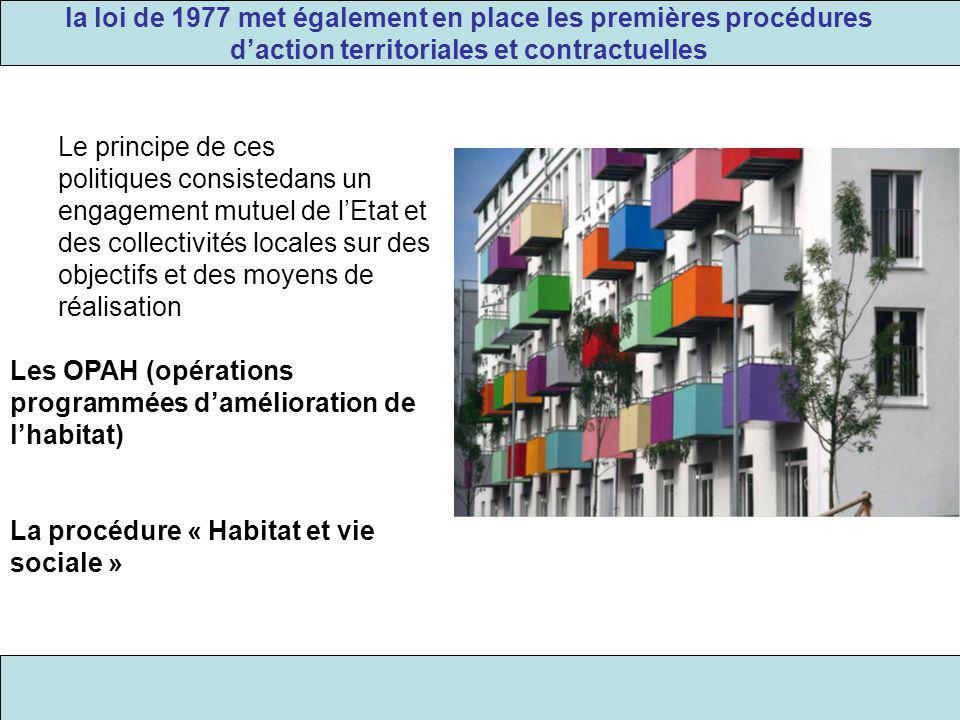 la loi de 1977 met également en place les premières procédures d'action territoriales et contractuelles