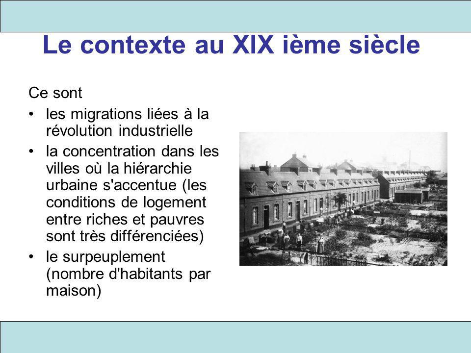 Le contexte au XIX ième siècle