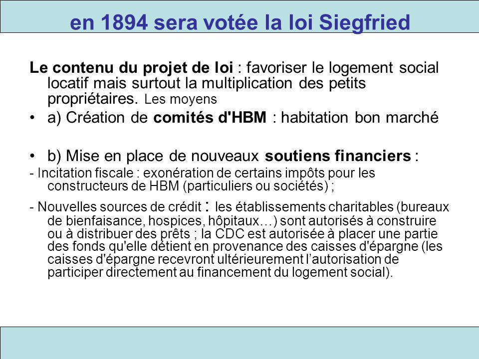 en 1894 sera votée la loi Siegfried