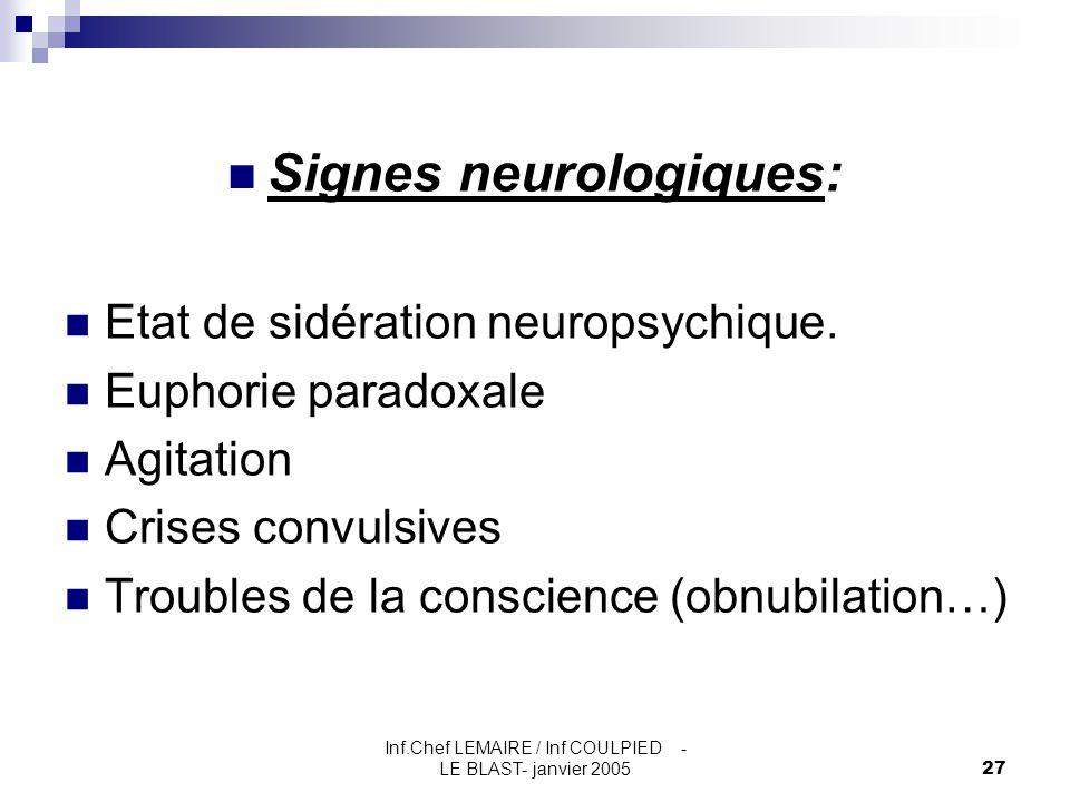 Signes neurologiques: