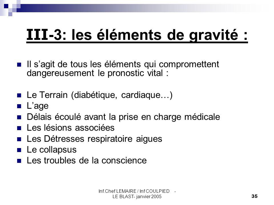 III-3: les éléments de gravité :