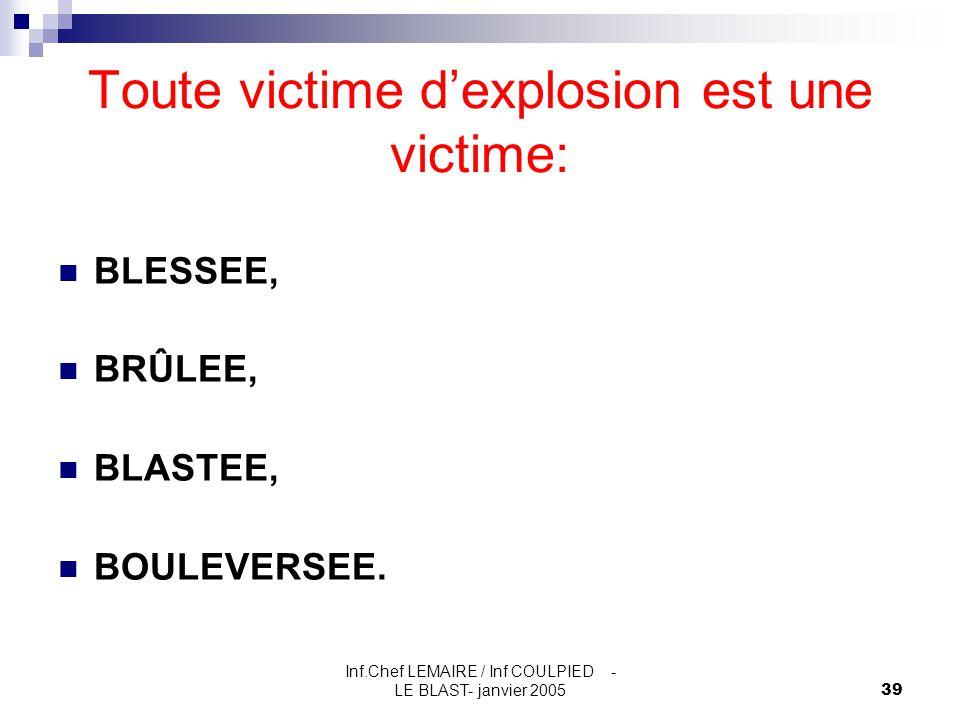 Toute victime d'explosion est une victime: