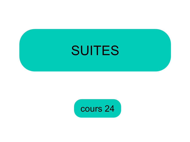 SUITES cours 24