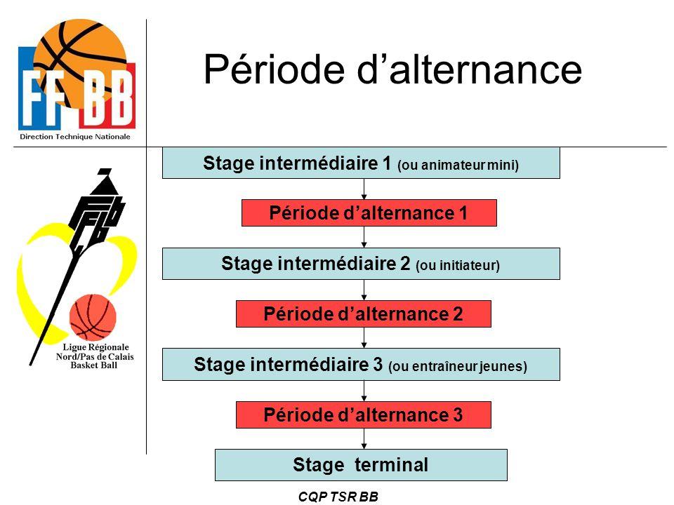 Période d'alternance Stage intermédiaire 1 (ou animateur mini)