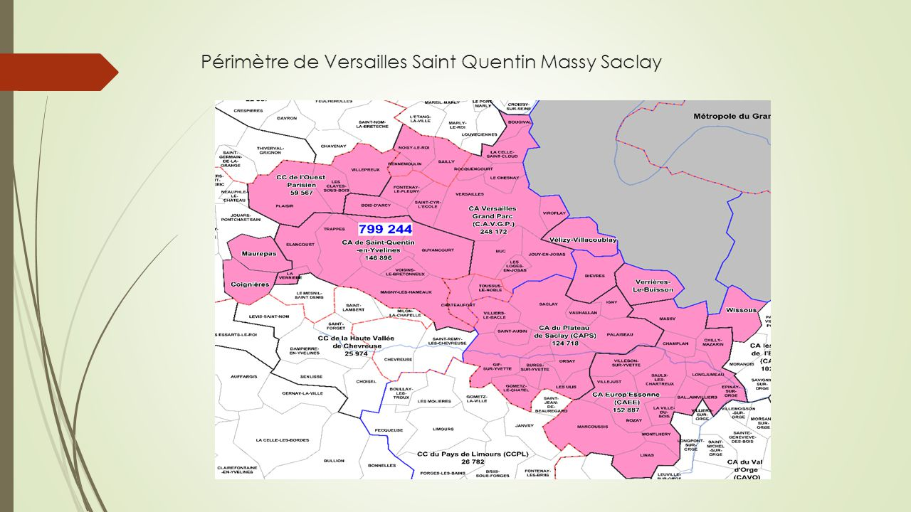 Périmètre de Versailles Saint Quentin Massy Saclay