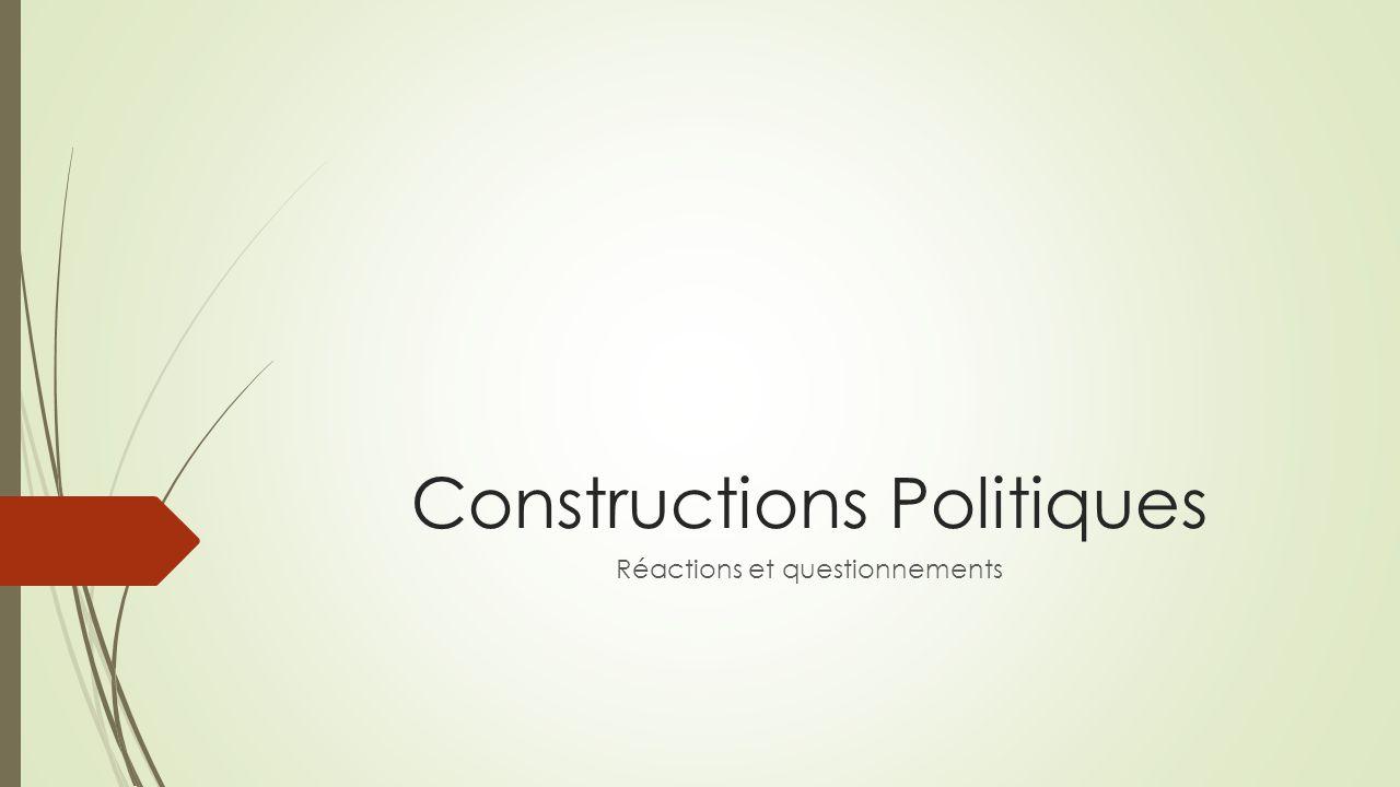 Constructions Politiques