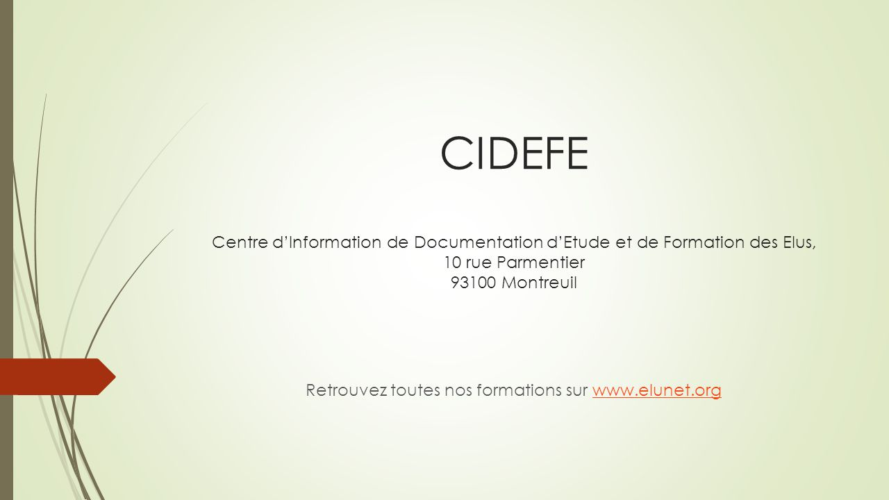 Retrouvez toutes nos formations sur www.elunet.org